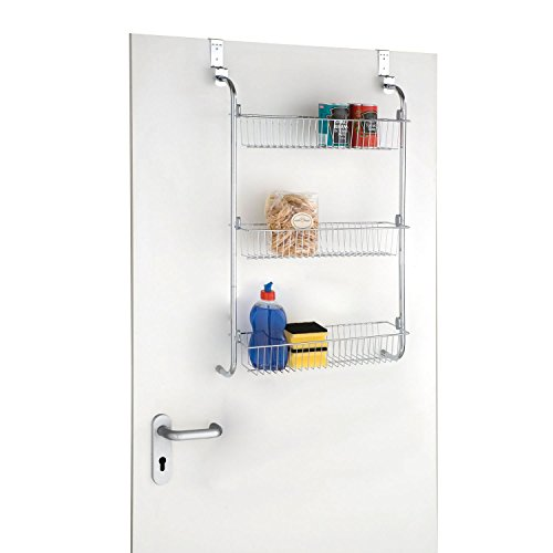 Taylor U0026 Brown® Chrome Over Door Hanging Kitchen Bathroom Storage Rack  Shelves