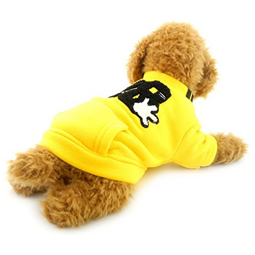 selmai Pet Coat Kleine Hunde Fleece Jacke gefüttert Sweatshirt Print Katze Apparel Casual Bulldogs Fleece-sweatshirt