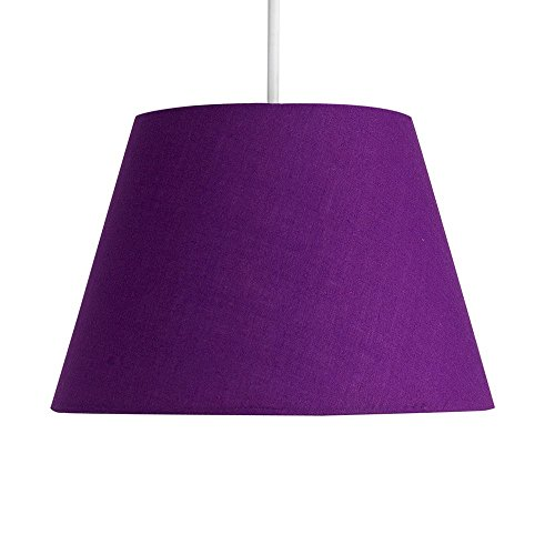 Purple light shades amazon modern 8 tapered purple fabric ceiling pendant table lamp light shade mozeypictures Images