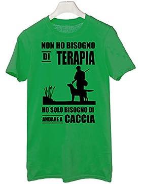 Tshirt non ho bisogno di terapia ho solo bisogno di andare a caccia - Tutte le taglie by tshirteria