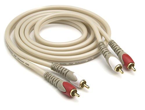 G&BL 5343 Serie HM Cavo Audio Bipolare, 2,5m, Bianco Perlato