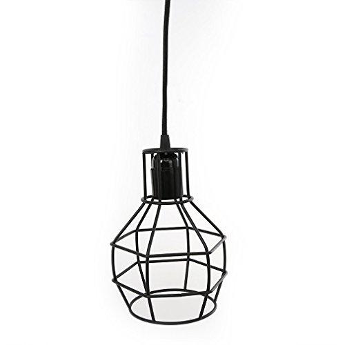 Anten® Granate Form Lampenschirm Lampe Gestell Vintage Stil Kronleuchter setzt tragbar mit Gestell Metallgestell,E27 Fassung, Schwarz Granate-lampe