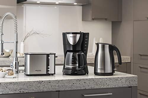 Grundig KM 5260 Premium-Kaffeemaschine (950 Watt), schwarz-silber