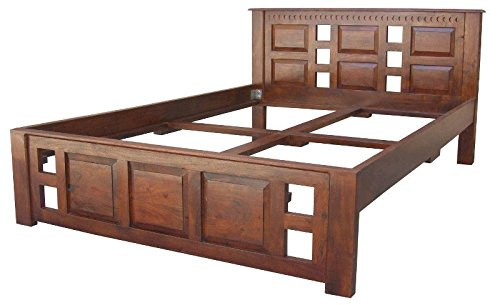 MASSIVMOEBEL24.DE Kolonialmöbel Bett 160x200 Akazie massiv Möbel Oxford Classic #252