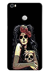 Omnam Printed Mask Girl with Skelton for Xiaomi Mi Max
