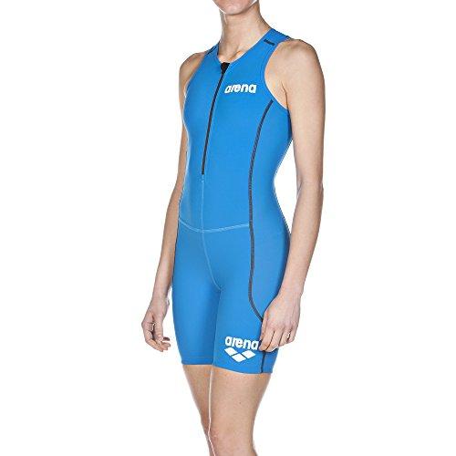 arena Damen Triathlon Einteiler Powerskin ST (Frontreißverschluss, Schnelltrocknend, Chlorresistent), Brilliant Blue (88), M