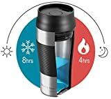 Coffee Travel Mug 360 ml - Double-Walled Vacuum Insulated Stainless Steel   BPA Free, Leakproof + Dishwasher Safe   Reusable to Go Tumbler + Tea Drinking Cup   One-Handed On The Go Flask   Hot Cold