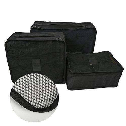 YIMOJI , Unisex-Erwachsene Kofferorganizer schwarz schwarz