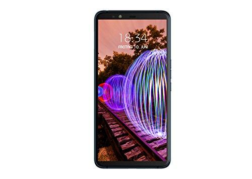 JVC J20 14,35 cm (5,65 Zoll) Smartphone (HD Display, 64GB interner Speicher, 4GB RAM, 16MP und 5 MP Kamera, Android 8.0) Schwarz