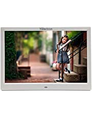 XElectron® 15 inch LED Digital Photo Frame/Video Frame with 1280×800, 1080P Support Resolution, Plays Images, Video & Music, USB/SD Card Slot, with Remote (15 inch, White)