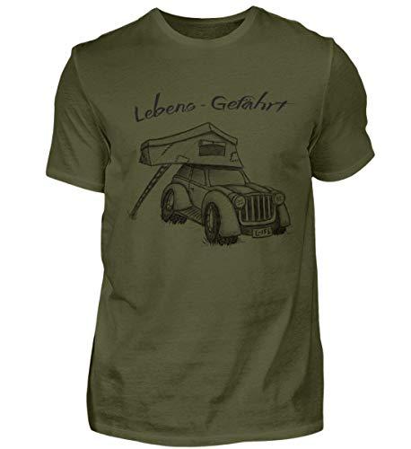 Dachzelt Camper - Camping Urlaub auf dem Dach Deines Autos zelten - Für echte Zelter - Herren Shirt -L-Urban Khaki