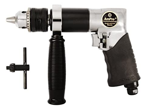 AMPRO A2440 1/2-Inch Heavy Duty Reversible Air Drill 800 RPM