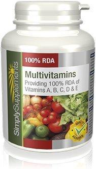 SimplySupplements 100% RDA Multivitamins ABCD & E|120 Tablets from SimplySupplements