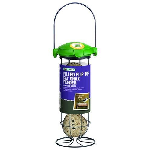 Filled Flip Top Fat Snax Feeder Hanging for Wild Birds Garden Gifts AVN 41EIub4F15L