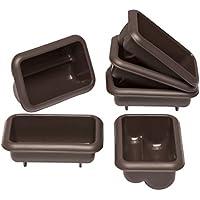 Lurch 85077 FlexiForm Mini Stollen Silikonbackformen, 6er Set, Silikon, Braun, 9.1 x 5.6 x 3.9 cm