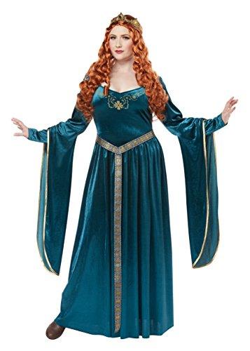 Mittelalterkleid Damenkostüm Übergrösse Queen Guinevere Gr: (Guinevere Kostüme)