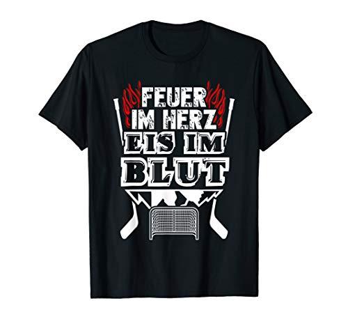 Feuer und Eis - Eishockey-Fan Fun Eishockey T-Shirt - Eishockey T-shirt