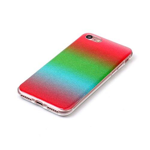 TPU Luxus Glitzer Case Cover iPhone 7 (4.7 Zoll) Hülle mit Kratzfeste Stoßdämpfende Strass Shining Sparkle Schutzhülle Ultra Thin Light Kristall Schutz Matt Schale Bumper für Apple iPhone 7 (4.7 Zoll) 10