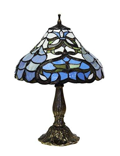 Komplett-mit Base Seerose Media und Tiffany Leaf weiß/hellblau (Seerose Tiffany)