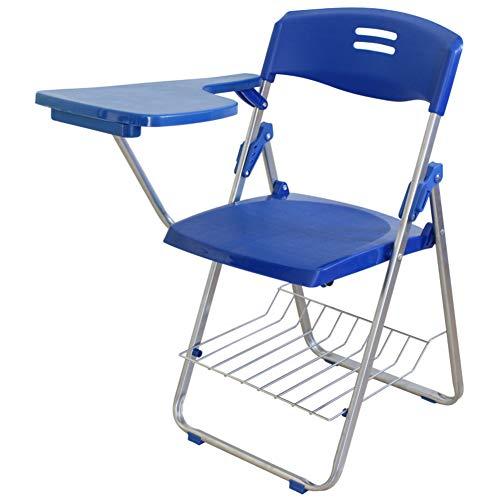 Zzzzy Klassische Werbung klappstuhl, Kunststoff klappstuhl mit metallrahmen 4er-Pack-Blau