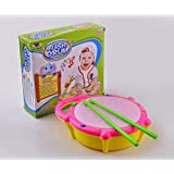 CRAZY BEAM Multi-Colored Mini Flash Drum Toy For Kids / Girls / Boys