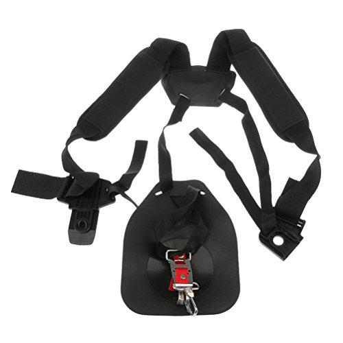 Yardwe Strimmer Double Shoulder Harness Gurt Gepolsterter Gürtel Für Freischneider Trimmer Gardden Pruner (Schwarz)