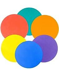 Unsquashable Lot de 6 disques en caoutchouc Bleu/rouge/vert/orange/violet/jaune