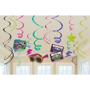 Decorations - 60cm Hanging Swirls by Totally 80s Hanging Decorations - 60cm Hanging Swirls ()