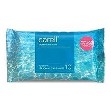 Carell Professional Care - Verfrissende persoonlijke verzorging doekjes - zacht, dermatologisch getest, alcoholvrij - Pack van 10 doekjes