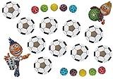 Schnäppchenladen24  MEGA Set 10x Fußball ansteck Button + 10x Fußball Kaugummis 20 Teile