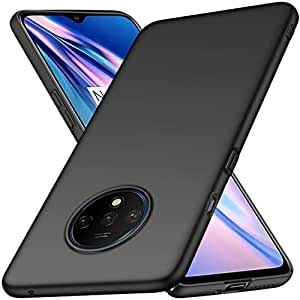 REALIKE OnePlus 7T Back Cover, Carbon Fiber Shockproof Case for Oneplus 7T (Promotional Price) (Black TPU)