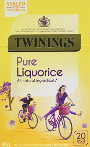 Twinings Liquorice Infusion Herbal tea, 40g (Pack of 4) (4X20 tea bags)