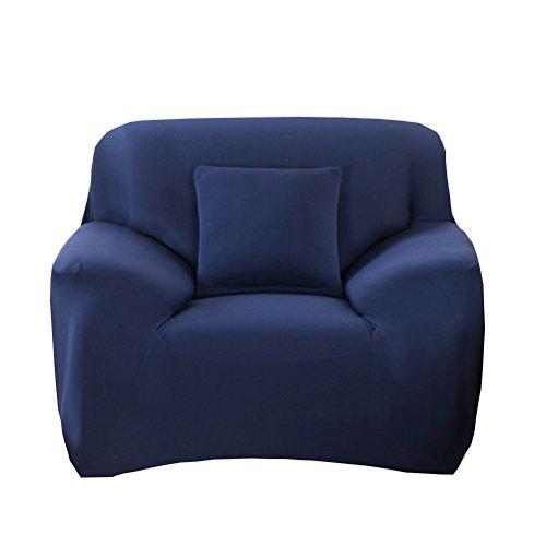 WINOMO Sofa Bezug Elastizität Schonbezug Stretchhusse Spannbezug Couch (Dunkelblau)