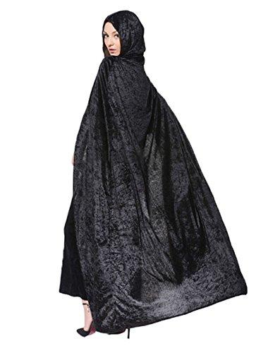 Uleade Unisex erwachsene Kapuzen Kap Fancy Dress Halloween Cosplay Vampir Held Zauberer Hexe lang Samt Cape (Lila Cape Ideen Kostüm)