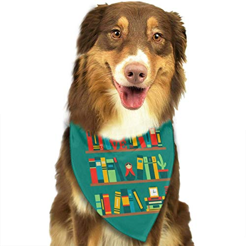 Hectwya Lustige Haustier-Bandanas-Schal-Liebes-Buch-Klassische Haustier-Bandana-Haustier-Halsbänder für Hundekatze eine ()