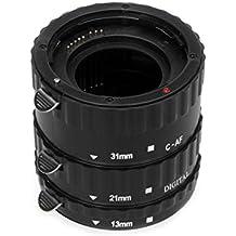 Tubo de extensión automático Macro para Canon – 13mm, 21mm, 31mm para Canon EOS 1300D 1200D 1100D 1000D 760D 750D 700D 650D 600D 550D 500D 450D 400D 350D 300D 10D 20D 30D 40D 50D 60D 70D 80D 1D 5D Mark II 5D Mark III 5DS 5DS R 6D 7D Mark II