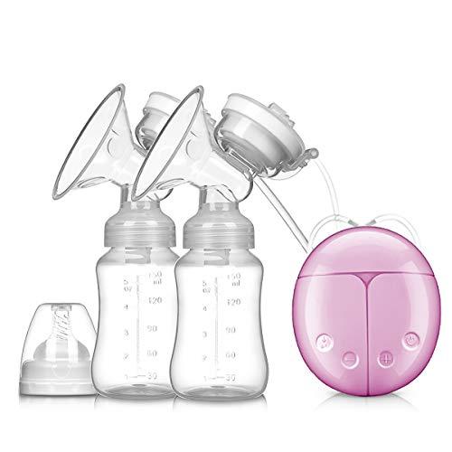 SONARIN Elektrische Brustpumpe Dual Absaugung Elektrische Stillen pumpe Prolactin Automatische Massage 8 Stufen 2 Modi USB-Schnittstelle(Rosa) -