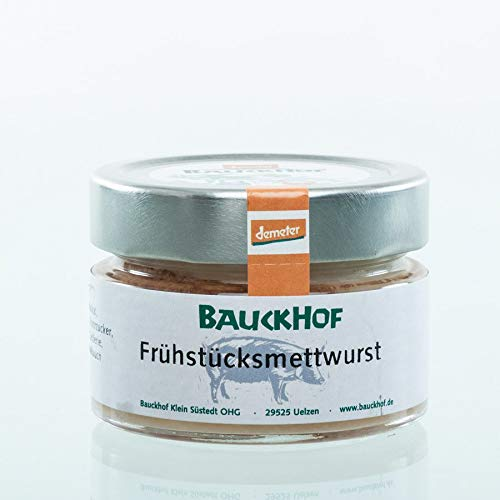 Bauckhof Fleischerei Bio Frühstücks-Mettwurst im Glas (1 x 100 gr)