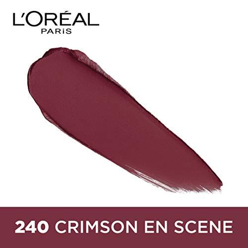 L'Oreal Paris Color Riche Moist Matte Lipstick, 240 Crimson En Scene, 3.7g