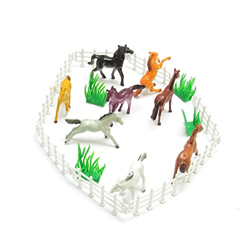 8-plastic-horse-farm-playset-wild-horse-animals-childrens-party-toys-bag