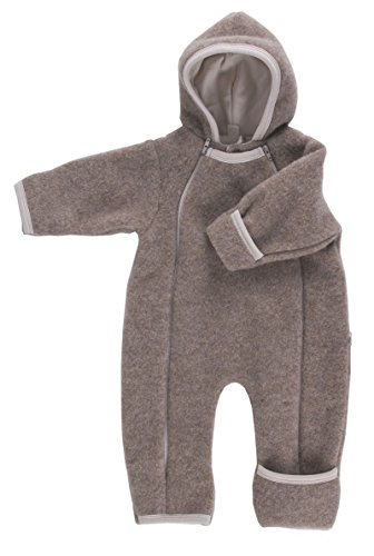 Baby Overall hellbraun Wollvlies Gr.50/56 (Unisex-eco-fleece)