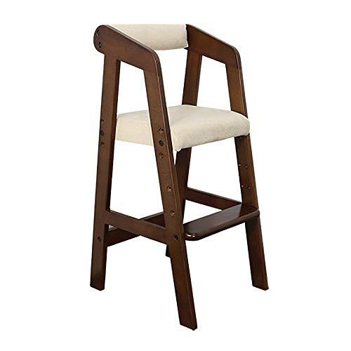 Tragbarer Kinderhochstuhl, einstellbare Babyfütterungsmatte, anhebbarer Esstisch und Stuhl aus Massivholz, Baumwollkissen L40 × W37 × H74cm (Farbe : Gray) - Eukalyptus-reiben