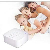 SUNSETGLOW White Noise Sound-Maschine, White Noise Machine Baby Sleep Sound-Maschine mit beruhigenden Naturgeräuschen für Baby Erwachsene, tragbar für Home Office-Reisen, USB-Timer gebaut