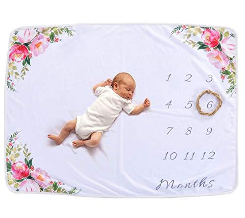 Happy Cherry Fotohintergrund-Decke für Babyfotos Neugeborenes Monatliche Meilenstein-Decke Fotografie Stützen Schießt Kulisse Tuch