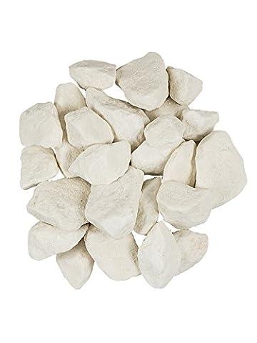 PFLANZWERK® Jardinière Planteur Decostones gravier d'ornement CRYSTAL NOYAUX Blanc 5KG *résistant au gel * Protection UV * * produits de qualité*