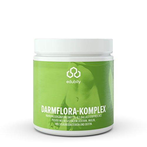 Darmflora aufbauen • Präbiotika & Probiotika • Resistentes Dextrin Mit Inulin, Biotin & 6 Bakterien-Kulturen • 250 g