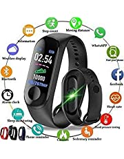 ADDNED M3 Smart Band Fitness Tracker Watch Heart Rate with Activity Tracker Waterproof Body Functions Like Steps Counter, Calorie Counter, Blood Pressure, Heart Rate Monitor OLED Touchscreen