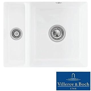 Villeroy & Boch Subway XU 1.5 Bowl White Ceramic Undermount Sink LHSB - NO WASTE
