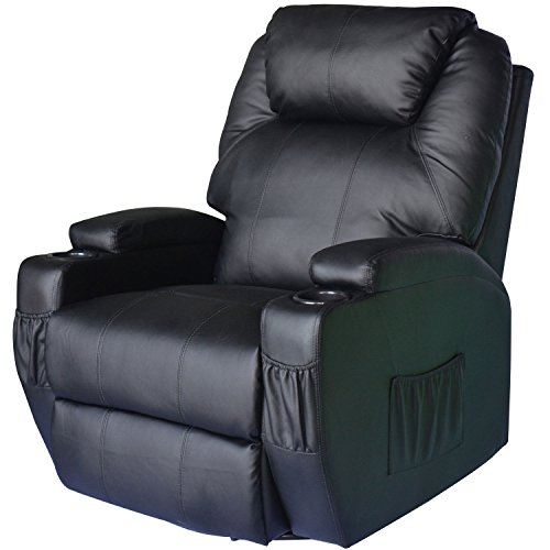 Homcom® Massagesessel Fernsehsessel mit Heizfunktion und Massagefunktion schwarz