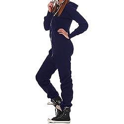 Joe's Lucky Combinaison Combinaison Jogger survêtement pièce Femme - Bleu - XL